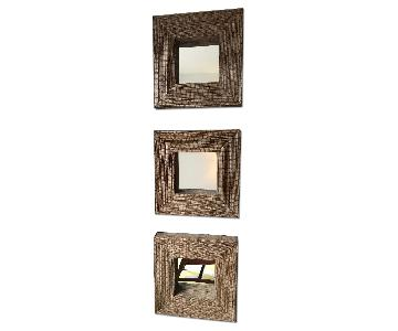 Crate & Barrel Cocostick Decorative Wall Mirror