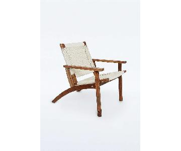 Urban Outfitters Woven Rope Lounge Chair