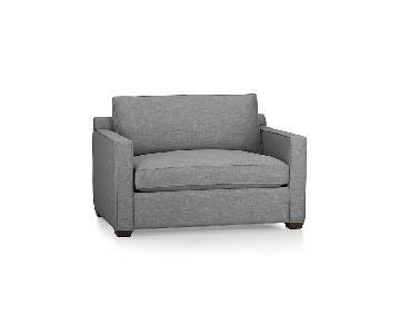 Crate & Barrel Davis Gray Twin Sleeper Sofa