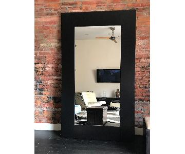 Custom Wenge Solid Wood Floor Mirror