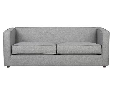 CB2 Light Grey Club Sofa