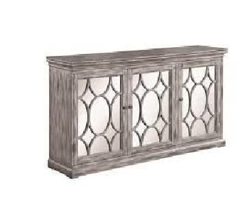 Antique Grey Wide Cabinet