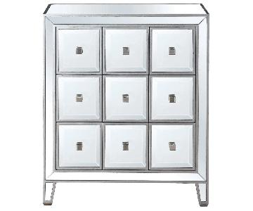 Clear Glass Accent Cabinet