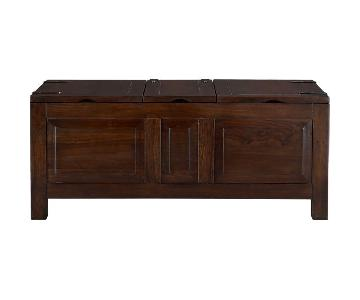 Crate & Barrel Hunter II Storage Trunk in Dark Brown