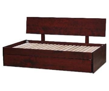Custom Built Wooden Daybed w/ Pull/Lift Trundle