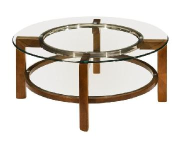 Raymour & Flanigan Alex Collection Glass Coffee Table