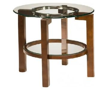 Raymour & Flanigan Alex Glass End Table