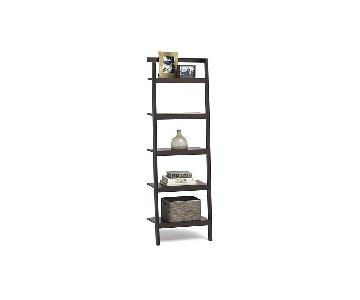 Crate & Barrel Leaning Bookcase