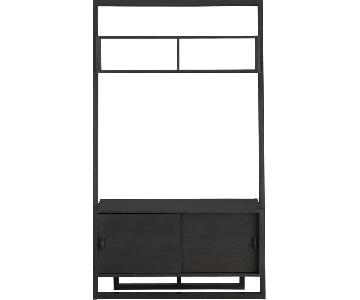 Crate & Barrel Sloane Leaning Media Console