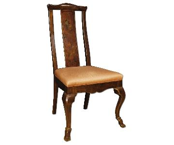 French Chair in Lacquered & Gilt Chinoiserie Wood