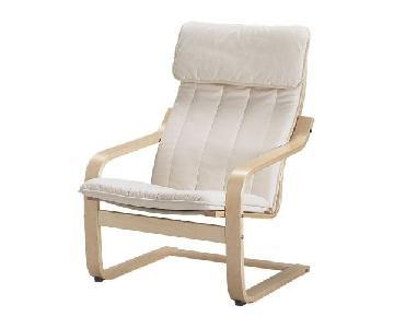 Ikea Poang Armchair & Ottoman Set