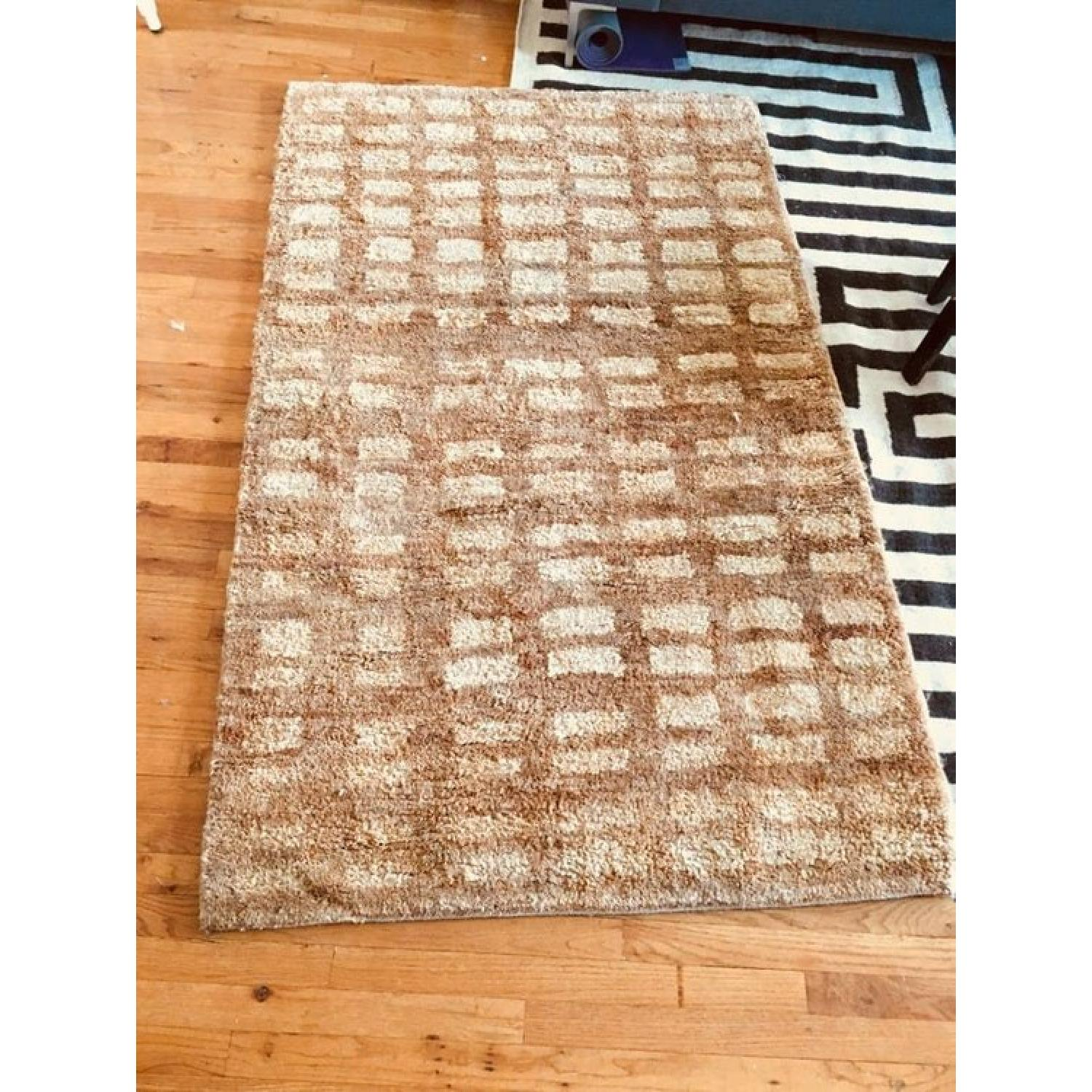 Dwell Studio Blocks Hand Knotted Jute Camel Area Rug-0
