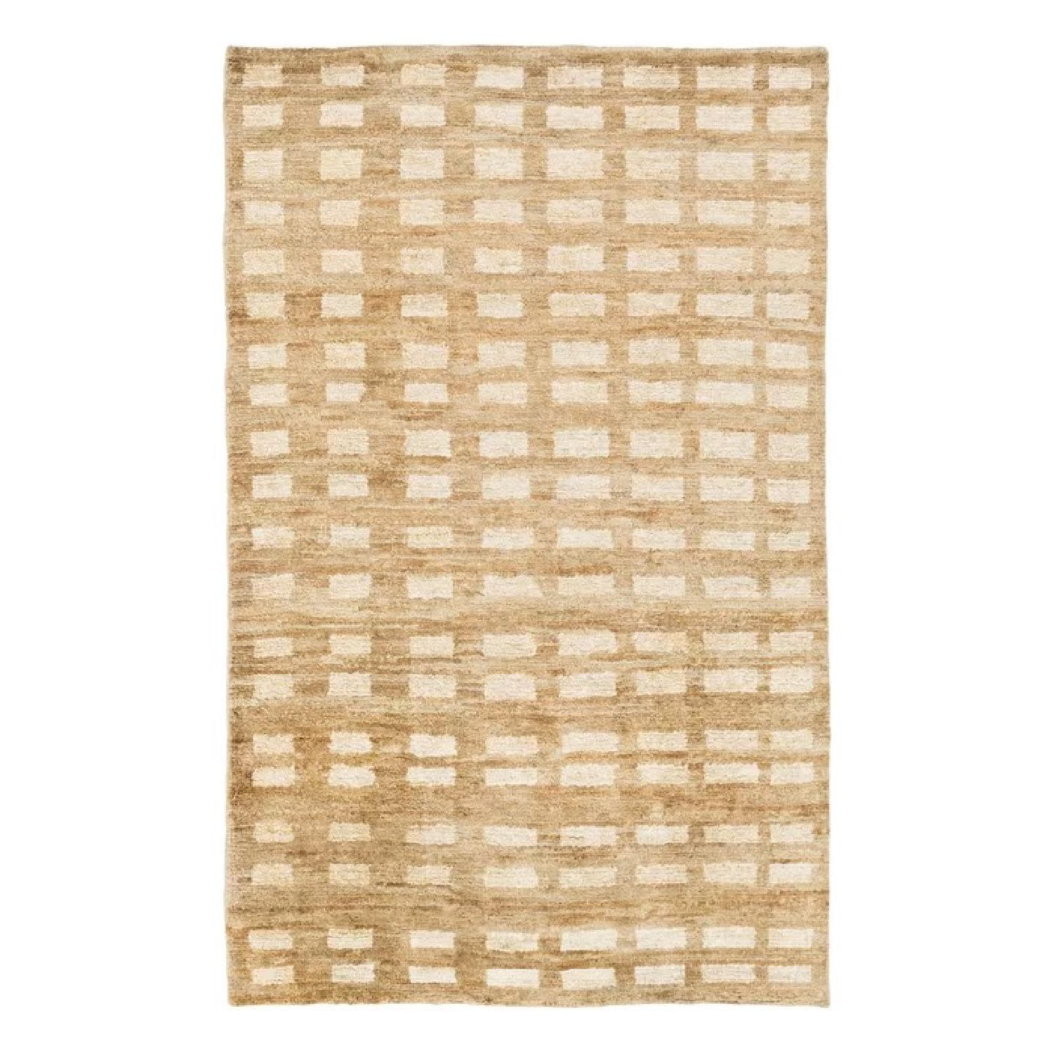 Dwell Studio Blocks Hand Knotted Jute Camel Area Rug