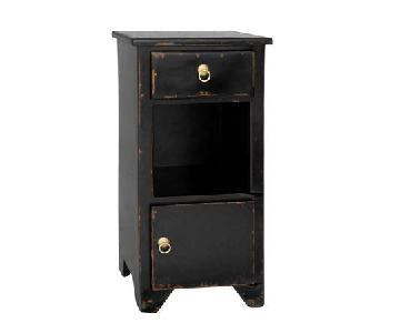 Antique Revival Black Bistre Nightstands