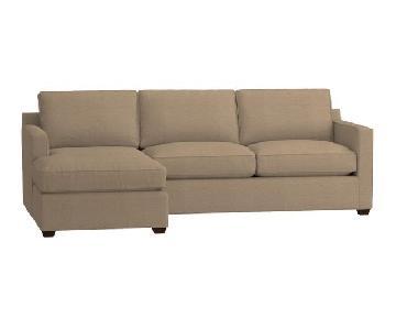 Crate & Barrel Davis 2-Piece Sectional Sofa