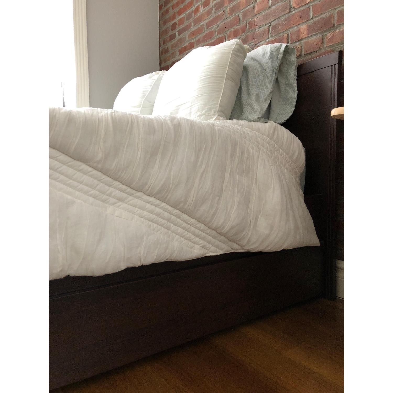 Ikea Songesand Bed Frame w 4 Storage Boxes AptDeco
