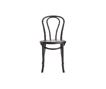 Crate & Barrel Vienna Black Dining Chair
