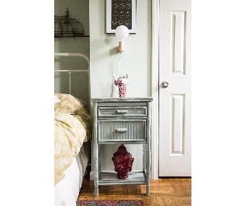 One Kings Lane Imogen 2-Drawer Side Cabinet in Dusty Aqua