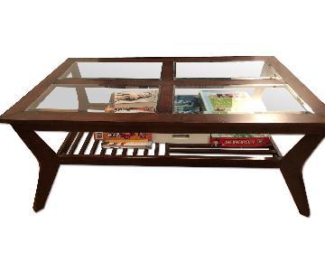 Bob's Wood & Glass Coffee Table