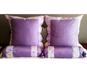 Purple Pillows & Neckrolls in Down & Egyptian Cotton