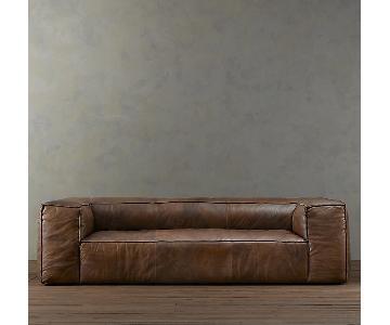 Restoration Hardware Fulham Leather Sofa ...