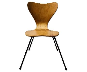 Mid Century Scoop Back Wood Dining Chair