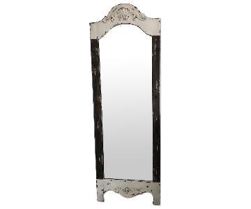 Distressed Wood Standing Mirror