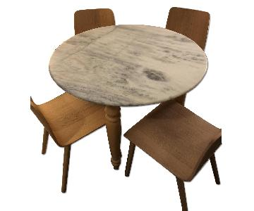 Anthropologie Round Marble Dining Table