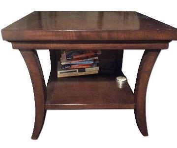 West Elm Brown Wooden Side Table