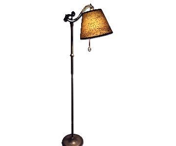 Antique Floor Lamp w/ New Paint & Fabric Shade