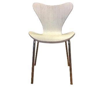 Restoration Hardware Modern Distressed White Chair