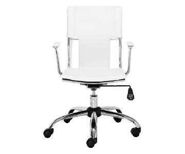 Zuo Trafico Leatherette Office Chair in White