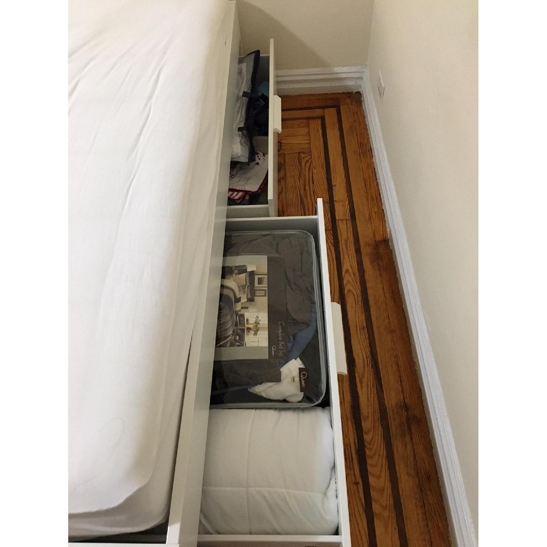 Ikea Brimnes Bed Frame w Storage in White AptDeco