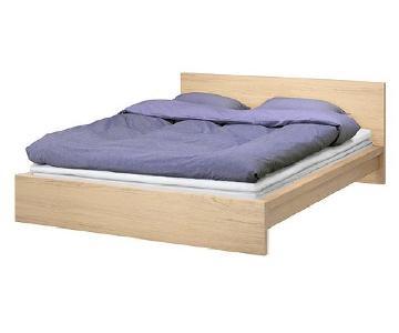 Ikea Malm King Size Platform Bed w/ Lonset Slatted Base