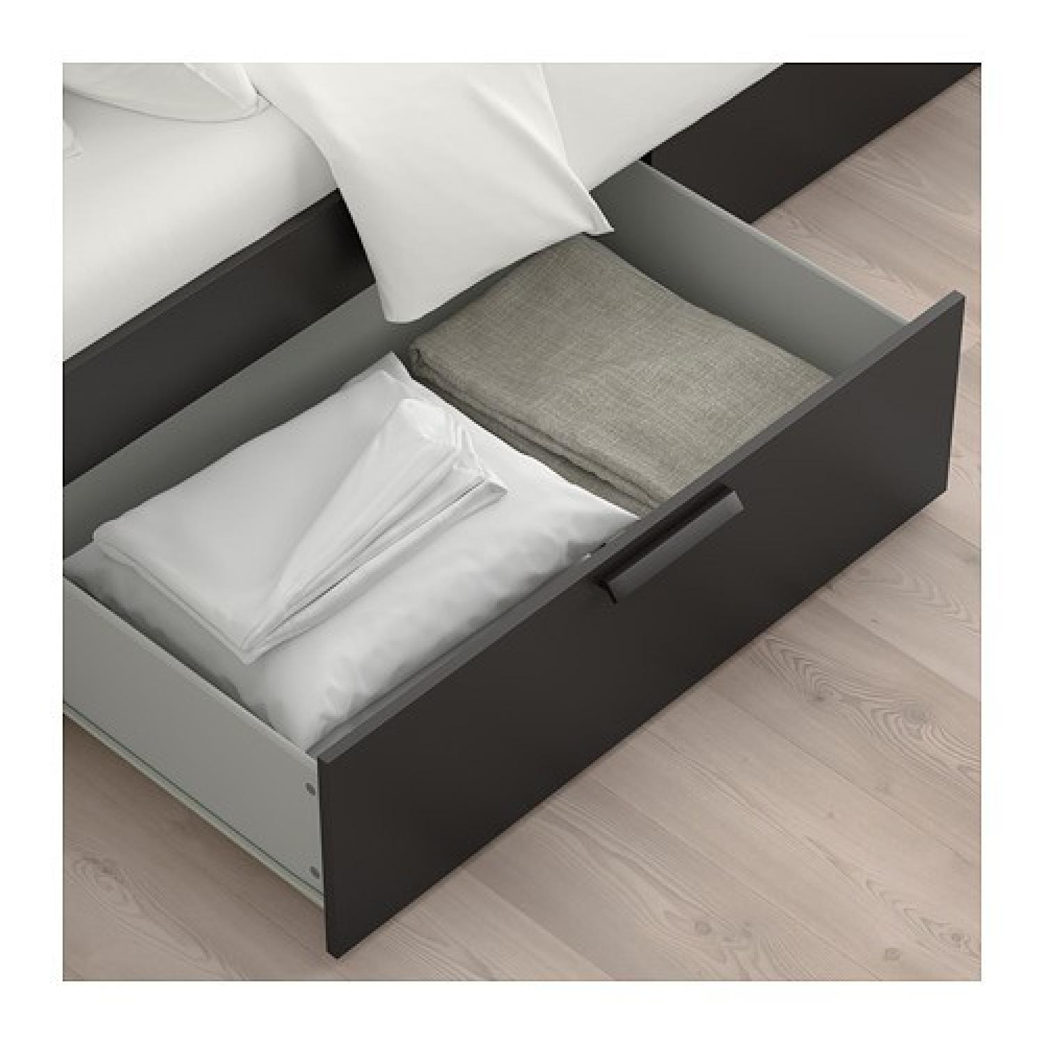 Ikea Brimnes Storage Bed Frame w and Headboard & Bed AptDeco
