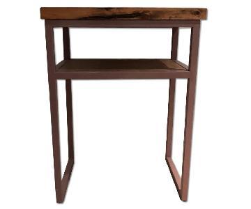 Saw Furniture Wood & Metal Side Table