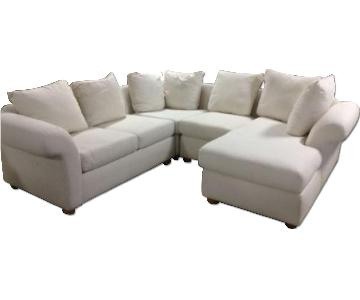 Pottery Barn Round Arm Charleston 4 Piece Sectional Sofa