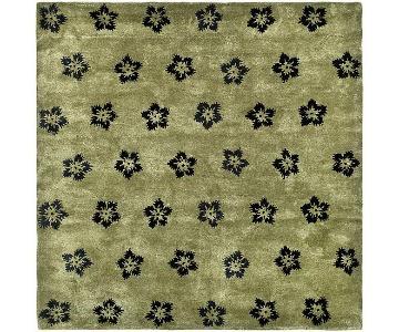 Safavieh Handmade Soho Leaves Sage New Zealand Wool Rug