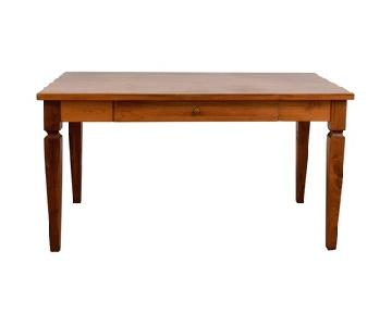 Crate & Barrel Wood Desk & Matching Chair