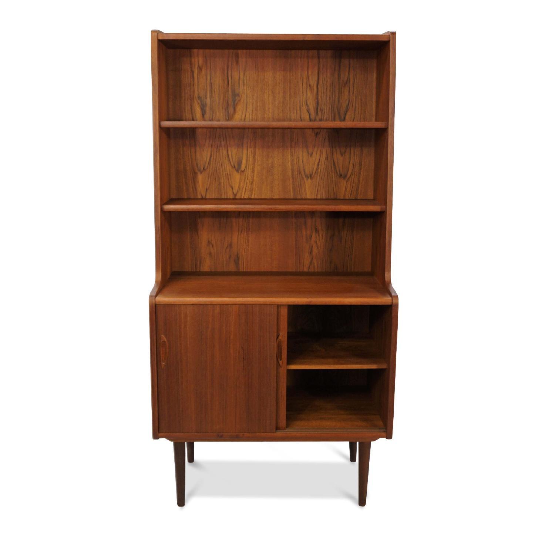 Danish Mid Century Modern Teak Bookcase-1