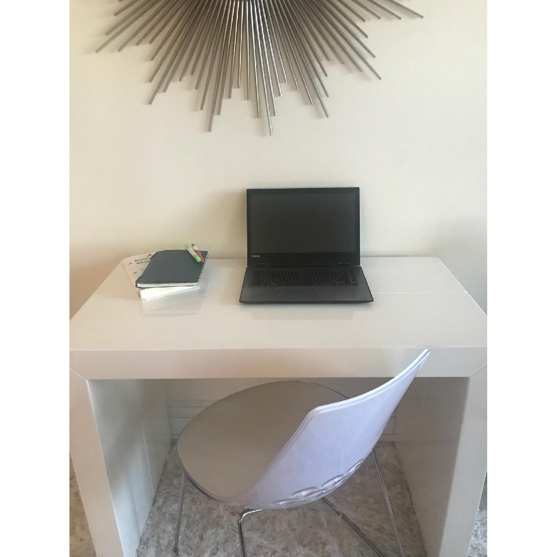 ... Modani T3 White Lacquer Console Dining Table 3 ...