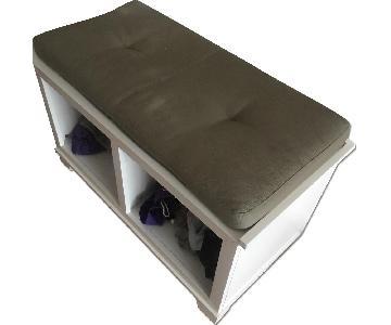 Crate & Barrel Entryway Bench w/ Storage
