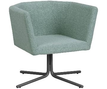CB2 Facetta Chair in Cyan