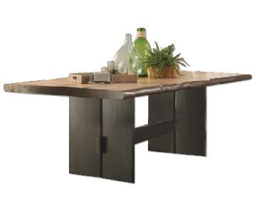 Live Edge Wide Dining Table