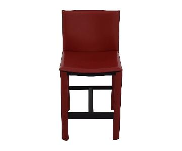 Room & Board Sava Counter Stool in Red Leather