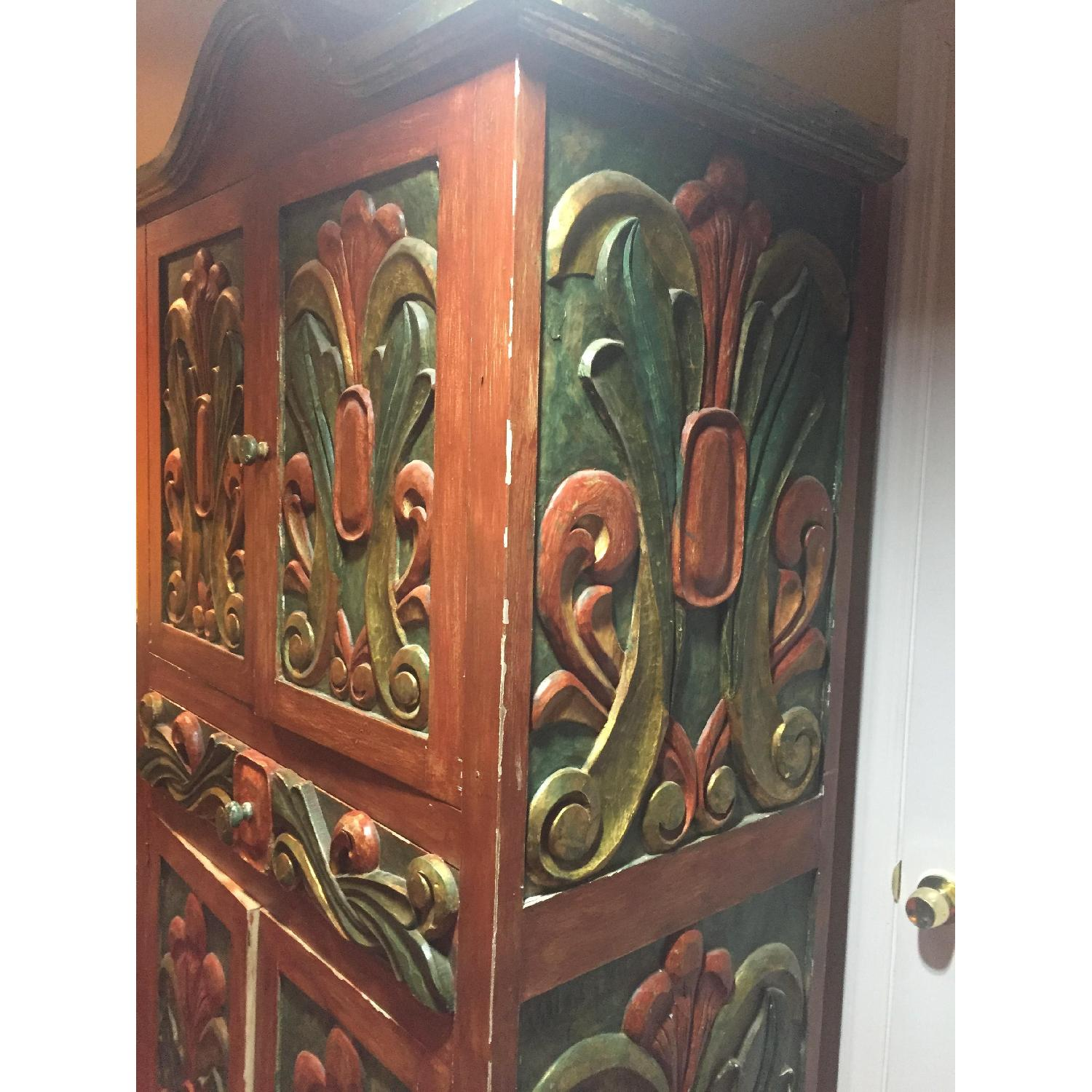... Pineapple Furniture, Inc Mexican Hand Painted Carved Armoire 0 ...