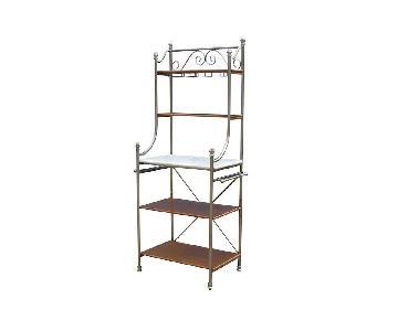 Bed Bath & Beyond Orleans Vintage Caramel Baker's Rack