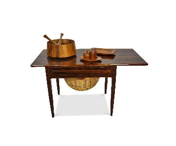 Danish Mid Century Johannes Andersen Rosewood Sewing Table