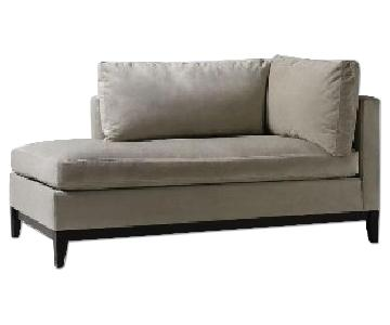 West Elm Blake Down Filled Chaise Lounge