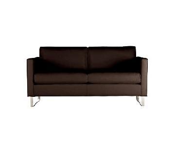 Design Within Reach Milo Baughman Goodland Leather Sofa